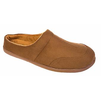 Mens New Cooler Brand MicroSuede Mule With Polar Fleece Lining Slipper 010