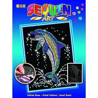 KSG Dolphin Sequin Art