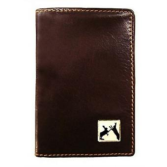Tyler and Tyler Leather Sparring Hares Travel Card Holder  - Black
