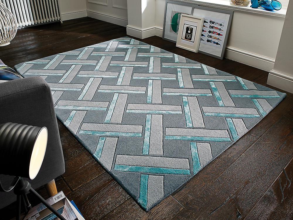 Parquet botanique canard oeufs Rectangle gris tapis tapis Funky