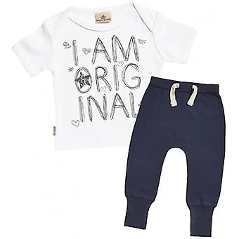 Spoilt Rotten I Am Original Baby T-Shirt & Navy Joggers Outfit Set
