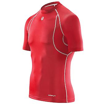 Carbonyte Short Sleeve Baselayer Top peaux masculines [rouge]