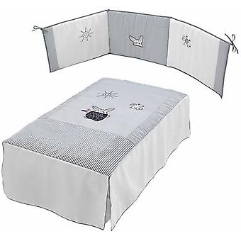Micuna Quilt and Protector Kit Cradle 120x60 Tx-700 Grey Rabbit