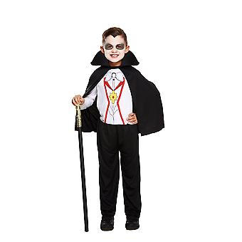 Children's Halloween Vampire Cape, Top & Trousers Fancy Dress Costume