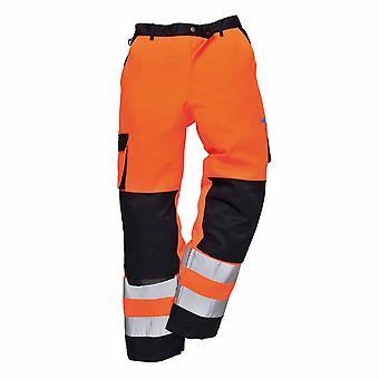 sUw - Lyon Texo Workwear Uniform Contrast Coloured Hi-Vis Safety Trousers