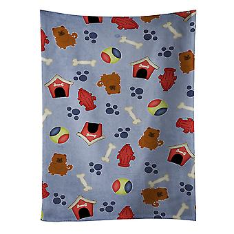 Carolines Treasures  BB2755KTWL Dog House Collection Chow Chow Red Kitchen Towel