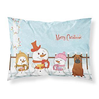 Merry Christmas Carolers chinesischen Chongqing Hund Stoff Standard Kissenbezug