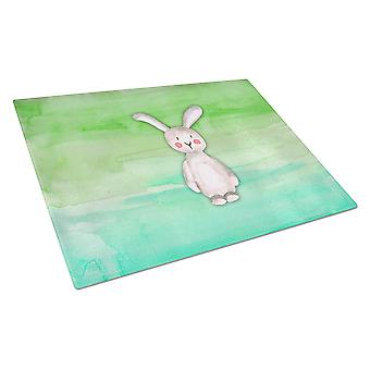 Carolines Treasures  BB7437LCB Bunny Rabbit Watercolor Glass Cutting Board Large
