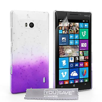 Yousave tilbehør Nokia Lumia 930 regndråbe hårdt etui - lilla-klar