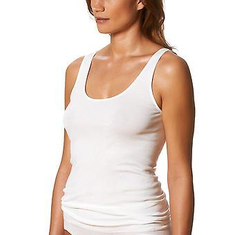 Mey Noblesse White Cotton Sleeveless Top 25102