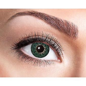 Natural contact lens soft green with floral elements