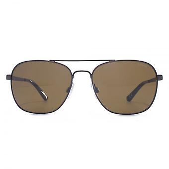 Levis Classic Square Pilot Sunglasses In Brown Gunmetal