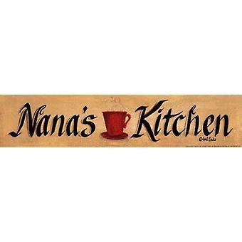 Nanas Kitchen Poster Print by Gail Eads (18 x 4)