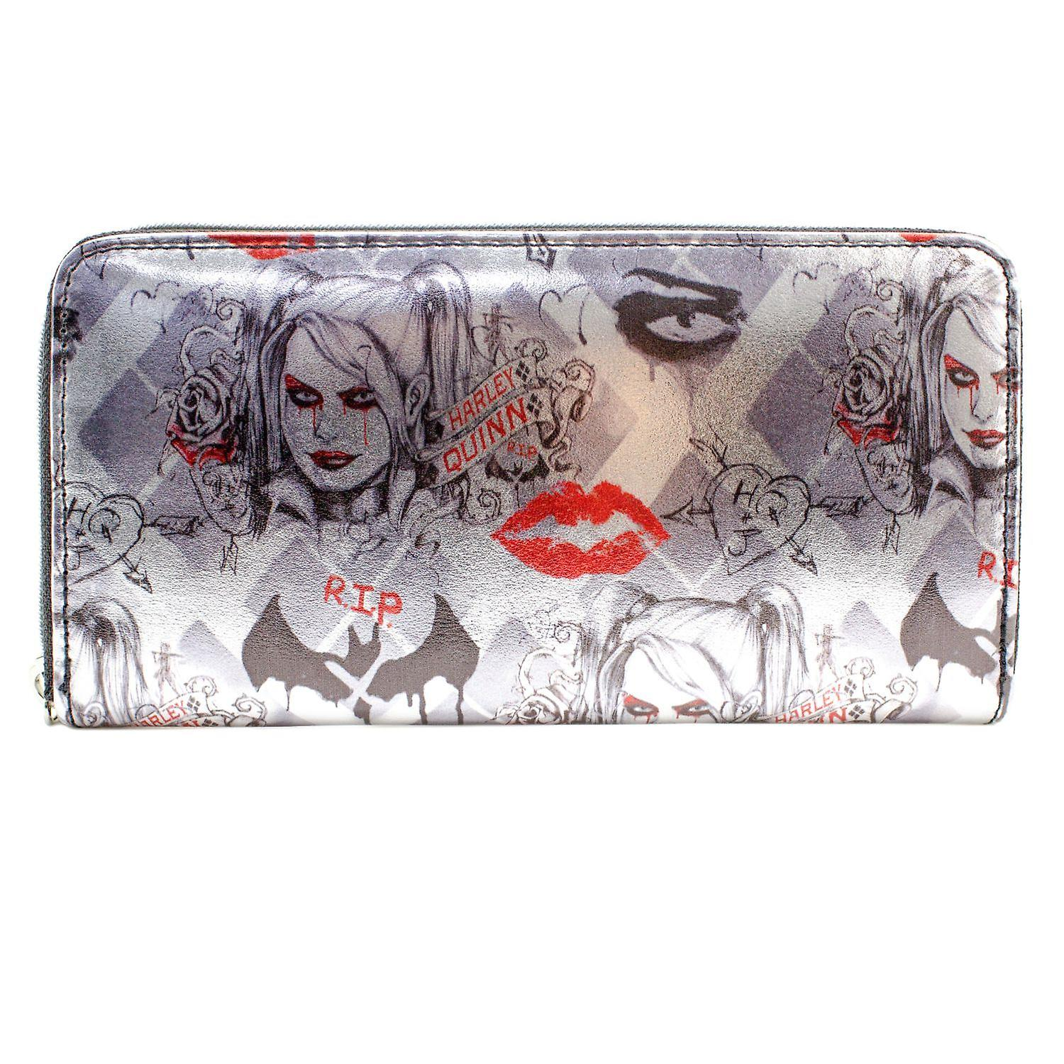 DC Suicide Squad Harley Quinn RIP Coin & Card Clutch Purse