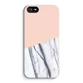 iPhone 5 / 5S / SE volledige Print Case (Glossy) - A touch van perzik