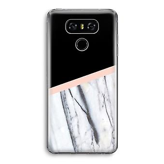 LG G6 Transparent Case - A touch of peach