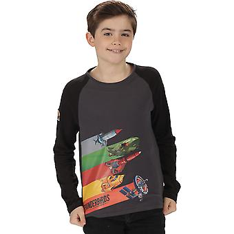 Regatta Boys Peril Coolweave Cotton Graphic Long Sleeve T Shirt