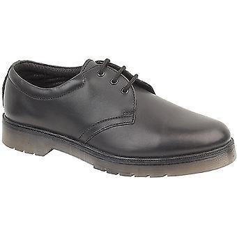 Amblers Mens Aldershot Lace lederen Gibson schoen zwart