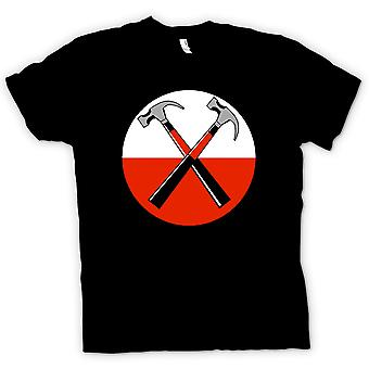 Heren T-shirt - Pink Floyd - The Wall Twin Hammer