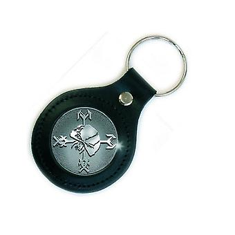 Iron Maiden Keyring Final Frontier Trooper Skull Official New Leather Keychain