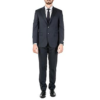 Canali Mens Suit Long Sleeves Dark Grey