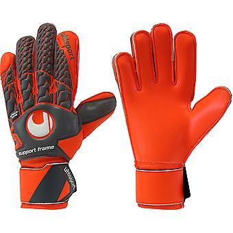 UHLSPORT AERORED SOFT SUPPORTFRAME Goalkeeper Gloves Size