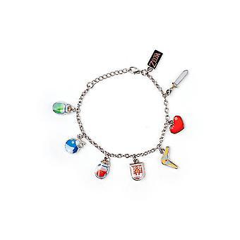 Zelda Charm armbånd Wind Waker 18cm Nintendo smykker sølv (WB100410ZEL)