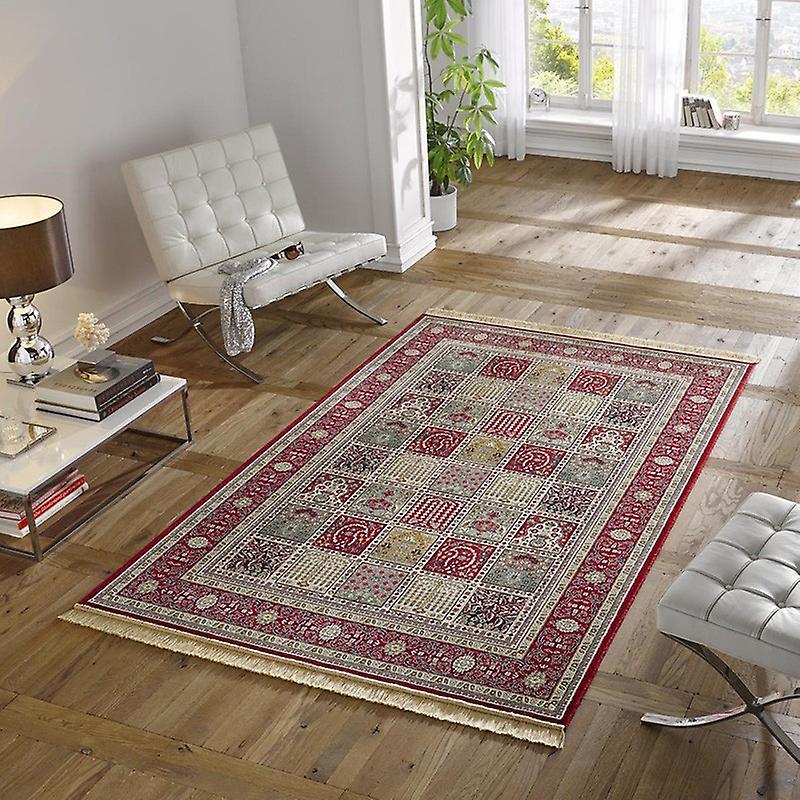 design teppich viskose mit fransen precious rot fruugo. Black Bedroom Furniture Sets. Home Design Ideas