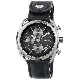 Breil Beaubourg Stainless Steel Chronograph Black Leather Strap TW1527 Watch