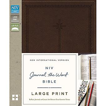 NIV Journal The Word Bible-Large Print, Brown