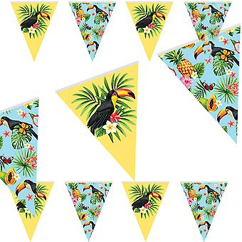 Toucan sommaren part Wimpel kedja 10 m tropiska Toucan part dekoration
