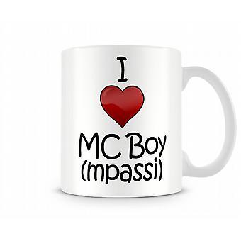 I Love MC Boy Printed Mug