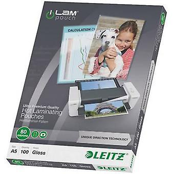 Laminate sheet Leitz A5 80 micron glossy