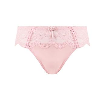 Guy de France 67131-E-005 Women's Rose Pink Solid Colour Lace Knickers Panty Brief