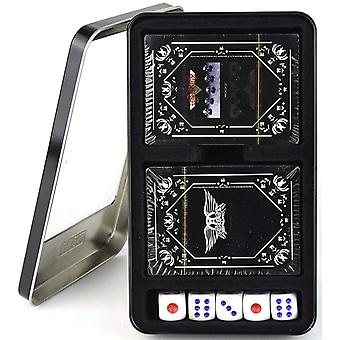 Aerosmith Rocks Double Set Of 52 Playing Cards & Dice In Tin