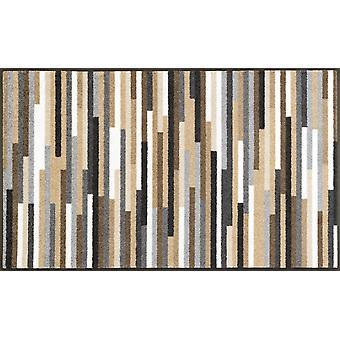 lavar + secar la suciedad mat Mikado rayas natural 75 x 120 cm lavable piso alfombra