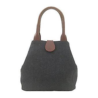 Tartan Handbag Z (Navy Harris Tweed)