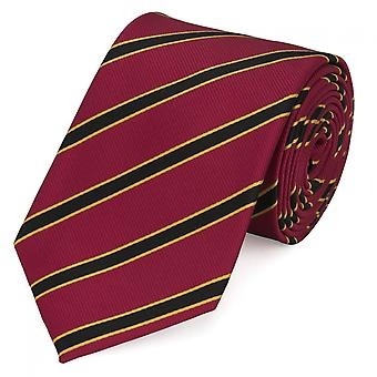 Tie tie tie tie 8cm red yellow black striped Fabio Farini