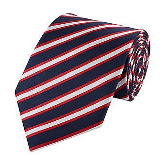 Schlips Krawatte Krawatten Binder Breit 8cm Blau/Rot gestreift Fabio Farini
