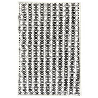 Outdoor carpet for Terrace / balcony black natural white Skandi look Stuoia Ecru black 194 / 290 cm carpet indoor / outdoor - for indoors and outdoors