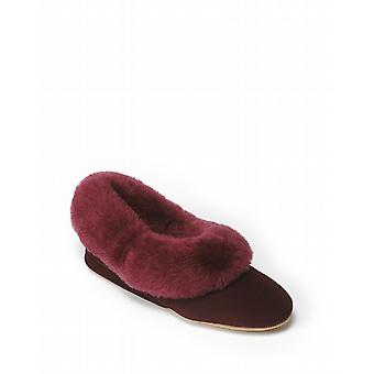 Ladies Seaforth Sheepskin Slippers - Damson