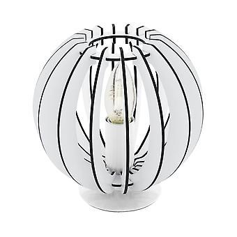 EGLO Коссано 185 мм небольшие тумбочки Zen стиль лампа, белый мытья древесины