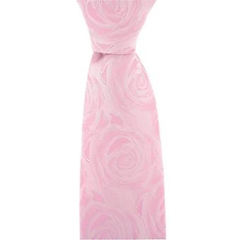 David Van Hagen Wedding Rose Silk Tie - Pale Pink