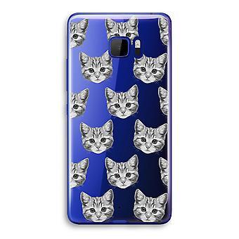 HTC U Ultra Transparent Case (Soft) - Kitten