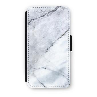 iPhone Custodia Flip di XS - marmo bianco