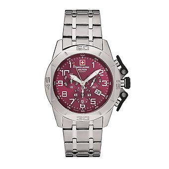 Swiss Alpine Military Herren Uhr Chrono 7063.9136SAM Edelstahl