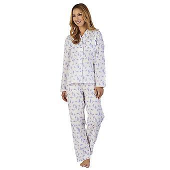 Slenderella PJ2224 女性の地面スプレー花柄パジャマ パジャマ セット