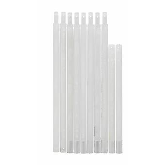 Weights bar set plastic accessories spare parts plunger transparent for Roman shade curtains