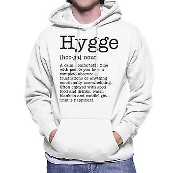Hygge Definition Men's Hooded Sweatshirt