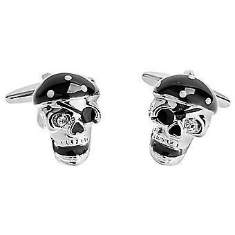 Zennor Pirate Skull Manchetknopen - zwart/zilver